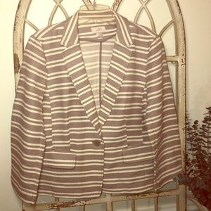 Ann Taylor LOFT Striped Blazer